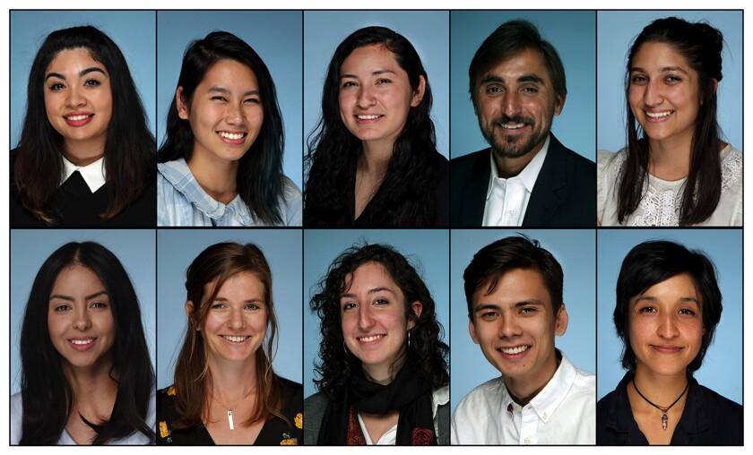 Members of the Los Angeles Times' Metpro class of 2018