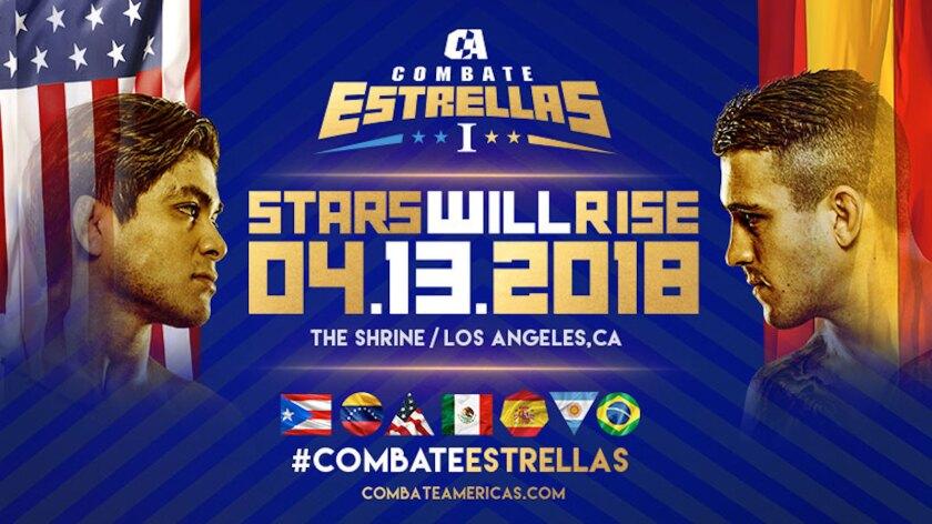 El póster oficial de la velada en Los Ángeles.