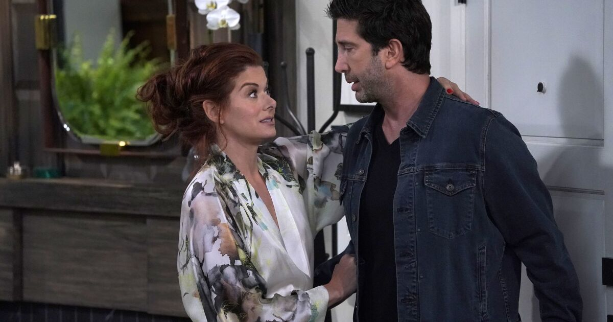 Debra Messing On Her Golden Globes Nomination And The Will Grace Tradition Of Losing Out On Awards Night Los Angeles Times