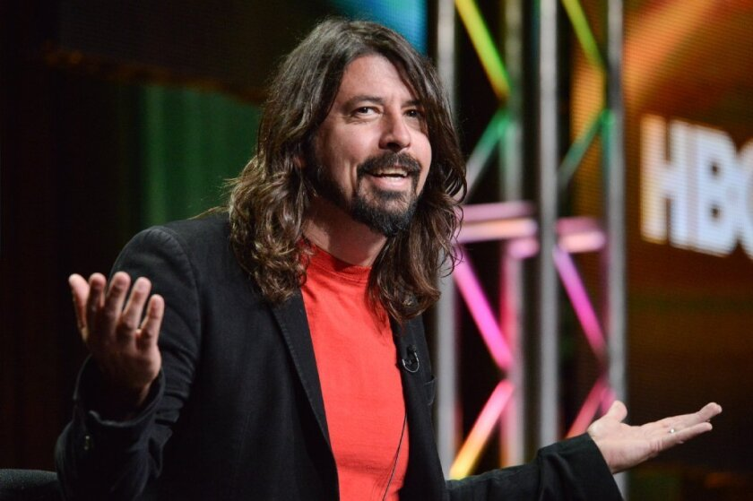 """Dave Grohl spoke at the Television Critics Assn. to discuss the documentary series """"Foo Fighters: Sonic Highways."""""""