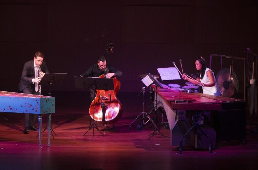 "Musicians from the Camerata Pacifica perform Henri Dutielleux's ""Les Citations."""