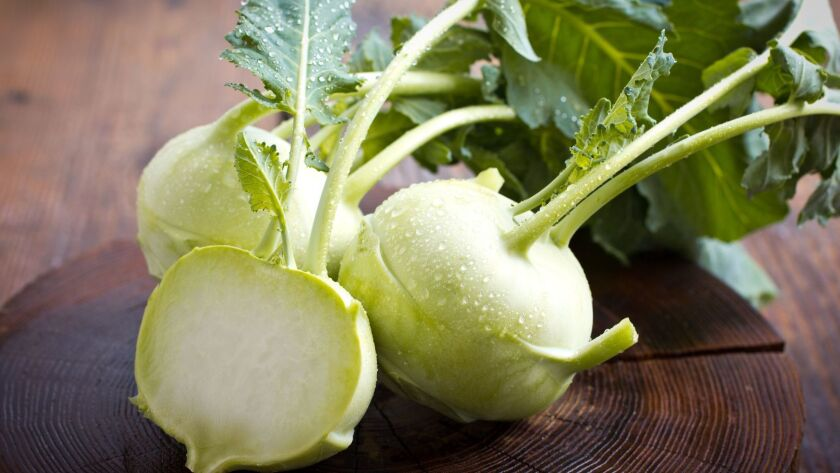 Kohlrabi is actually a member of the brassica plant family.