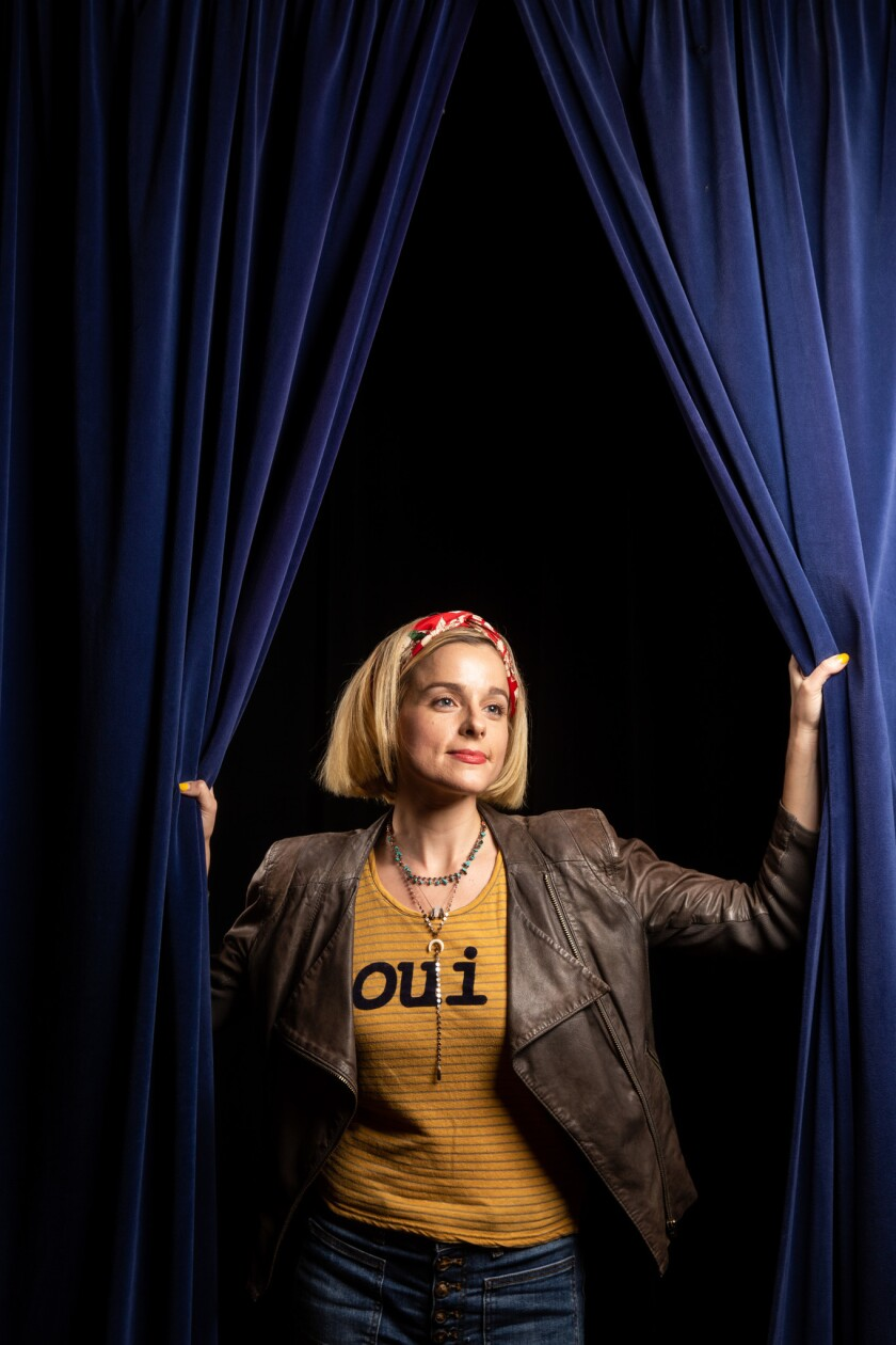 HERMOSA BEACH, CALIF. - MAY 18: Comedian Erica Rhodes, poses for a portrait at The Comedy and Magic