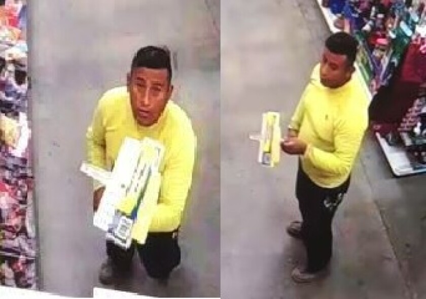 Authorities released these surveillance photos of a man suspected of touching a woman and exposing himself April 8 at the Dollar Tree in Lemon Grove.