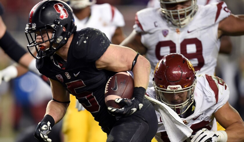 Stanford's bid for playoff, McCaffrey's trophy, dashed at the wire