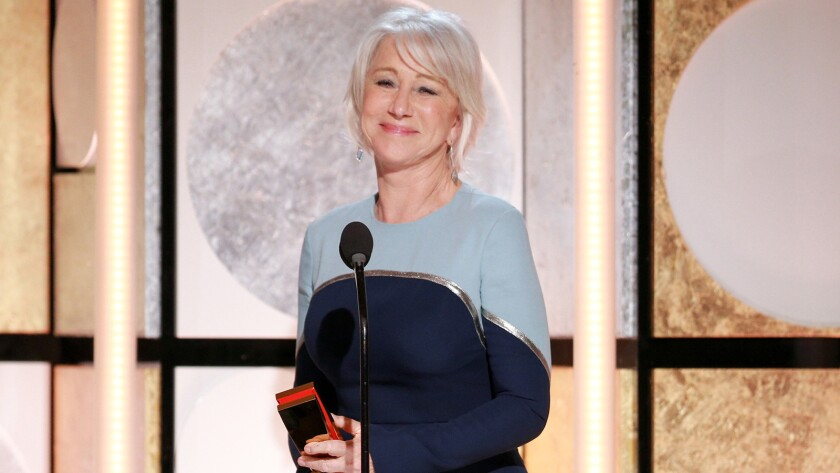 Helen Mirren is honored for career achievement at AARP's 17th Movies for Grownups Awards.