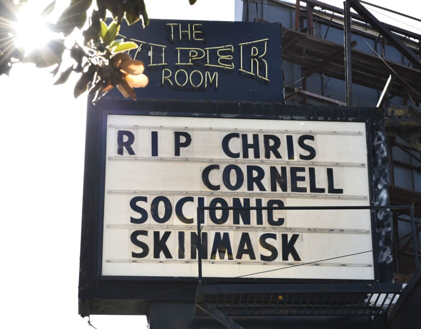 Chris Cornell remembered at the Viper Room on May 18, 2017 in Los Angeles, California. (Rodin Eckenroth/Getty Images)