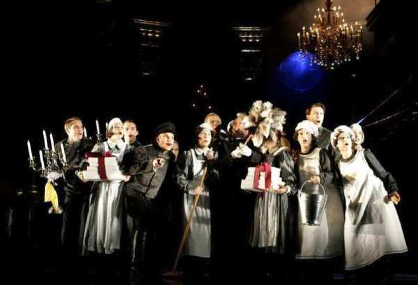 """A scene from the musical """"Rebecca"""" at Vienna's Raimund Theatre. A planned Broadway version was canceled recently."""