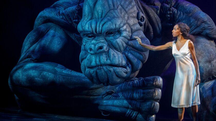 Christiani Pitts as Ann Darrow and King Kong