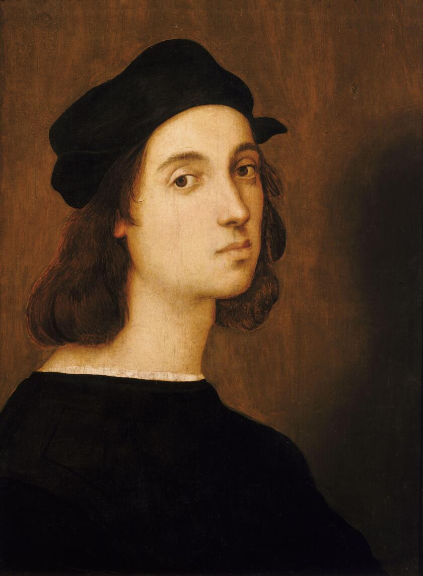 "Self portrait: Raffaello Sanzio da Urbino — better known as ""Raphael"" — was an Italian painter and architect of the High Renaissance. He was born in Urbino, Italy in 1483 and died April 6, 1520 in Rome, Italy."