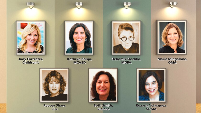 Out of San Diego's numerous art museums, 13 of them have women as its museum director. Here are seven of them; the remaining six will be featured in the Aug. 10, 2017 issue of La Jolla Light (along with the story being posted at lajollalight.com)