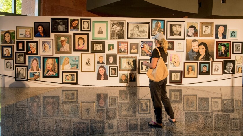 Portraits of 1 October victims are on display as Clark County and the Vegas Strong Resiliency Center