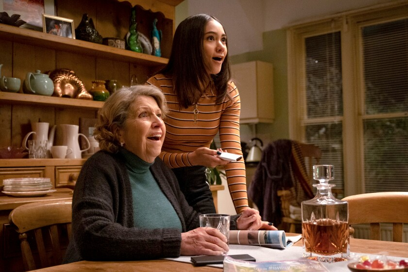 """Anne Reid, left, and Lydia West in """"Years and Years"""" on HBO."""