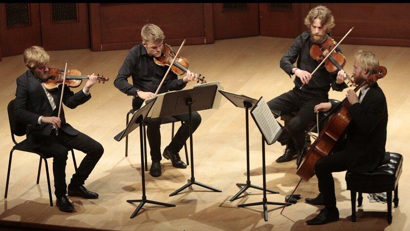 Review: Danish String Quartet makes a truly fab four in Santa Barbara