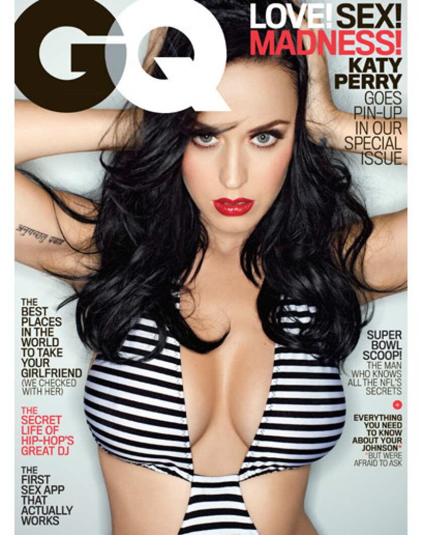 Singer Katy Perry is GQ magazine's February 2014 cover girl.