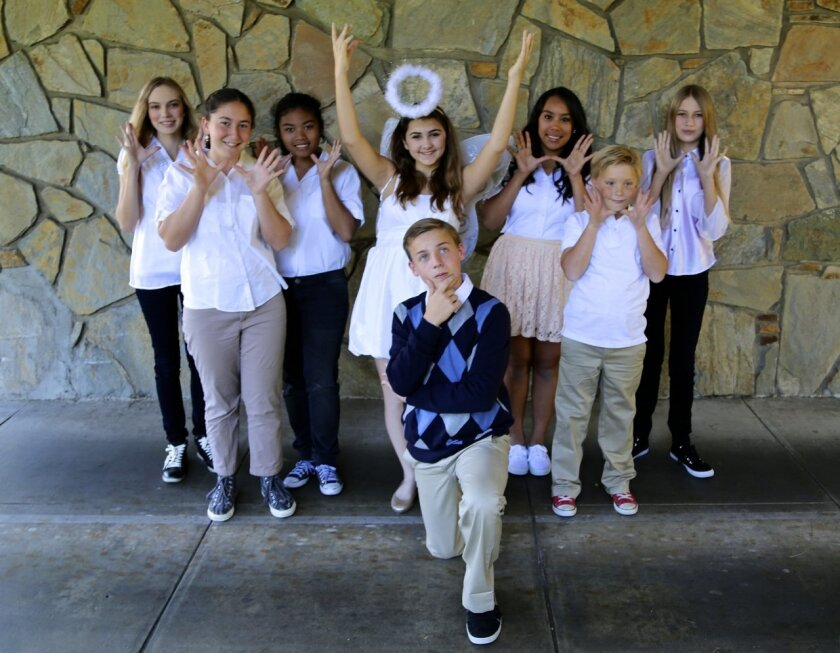 """Cast members of OnStage Playhouse's """"A Very Merry Unauthorized Children's Scientology Pageant."""""""