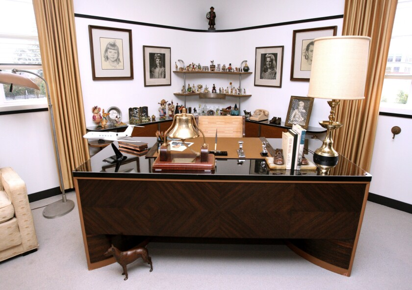 Walt Disney's restored office suite