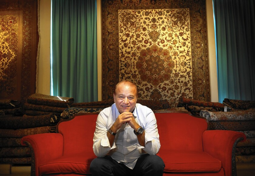Alex Helmi is the owner of the rug shop Damoka in Westwood. A 2010 embargo on Iranian-made rugs has meant tough times for sellers such as Helmi, who found his carpets caught up in a clash of diplomats, geopolitics and nuclear brinkmanship.