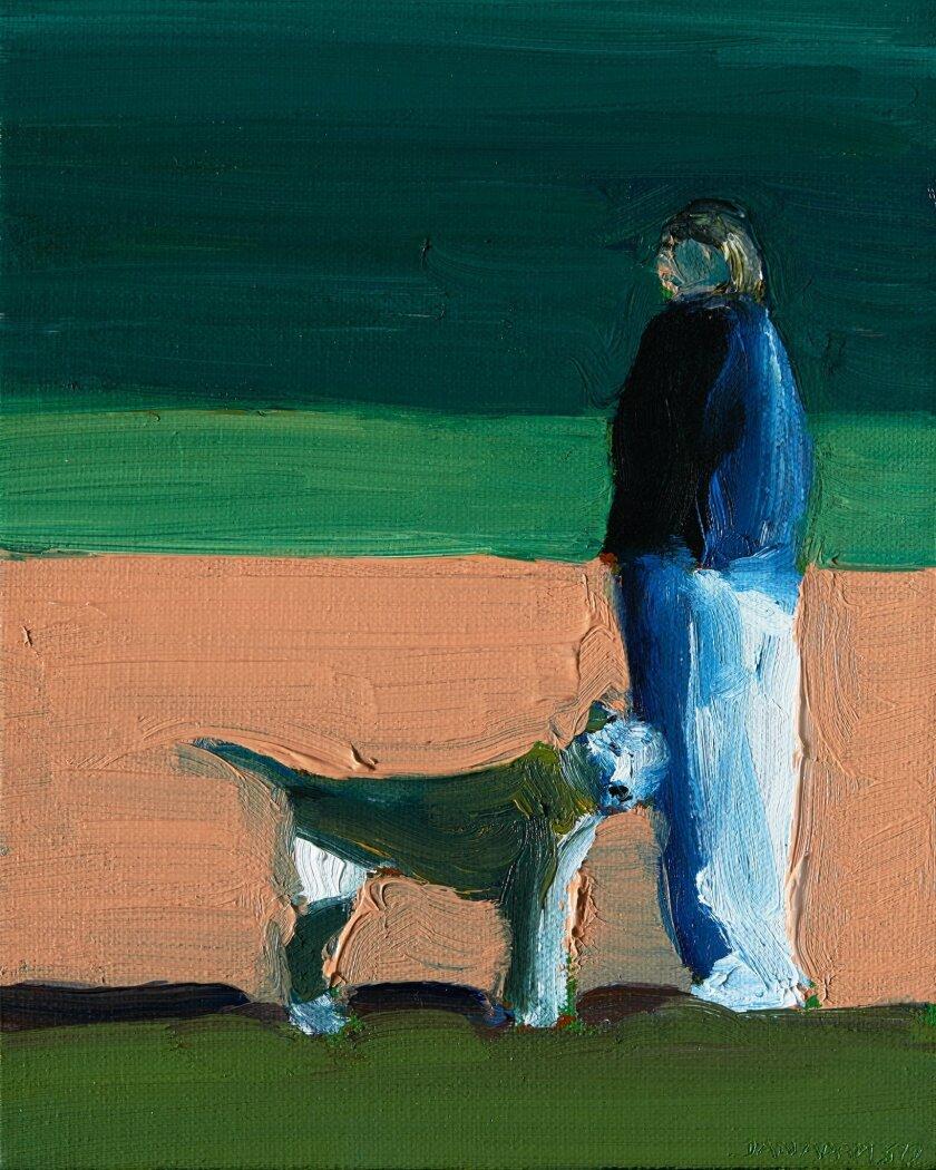 "Dan Adams: ""Figure with Dog"" (2012)"