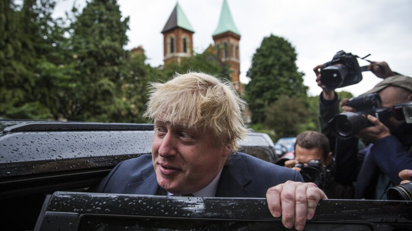 Boris Johnson outside his home in London earlier this week.