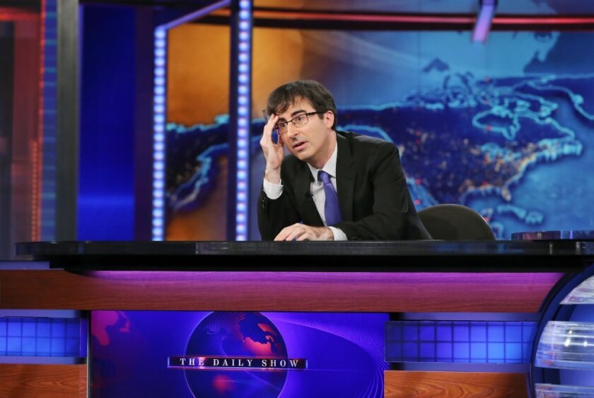"Over the summer, John Oliver took over as guest host of ""The Daily Show with Jon Stewart."""