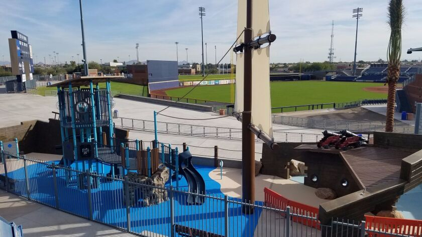 There's a new interactive playground for kids at the Peoria, Ariz., Sports Complex near Phoenix.