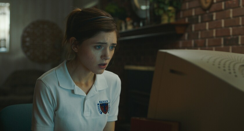 """Natalia Dyer in the movie """"Yes, God, Yes."""""""
