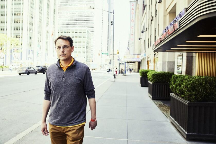 MSNBC political whiz Steve Kornacki at Rockefeller Plaza