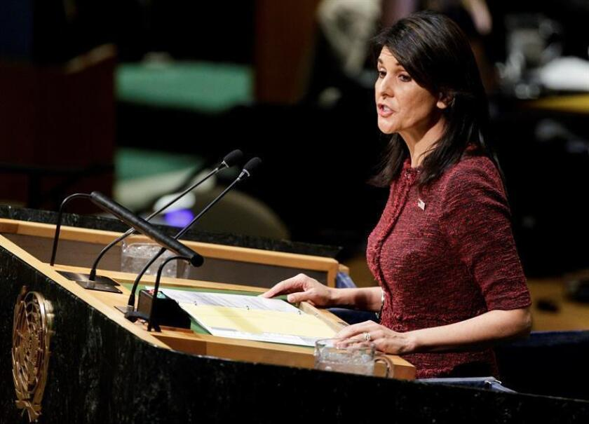 La embajadora estadounidense en la ONU, Nikki Haley. EFE/Archivo