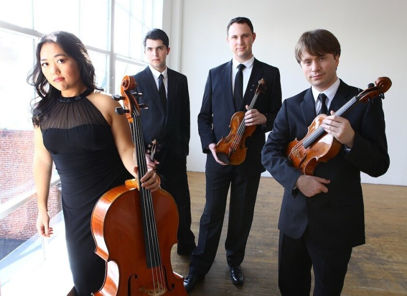 The Calidore String Quartet plays 7:30 p.m. Friday, Jan. 16 at Athenaeum Music & Arts Library.