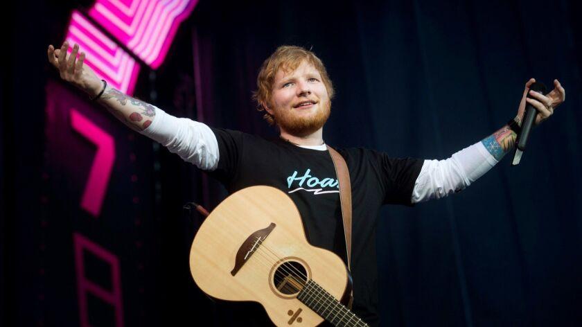 Ed Sheeran in concert in Madrid in June.
