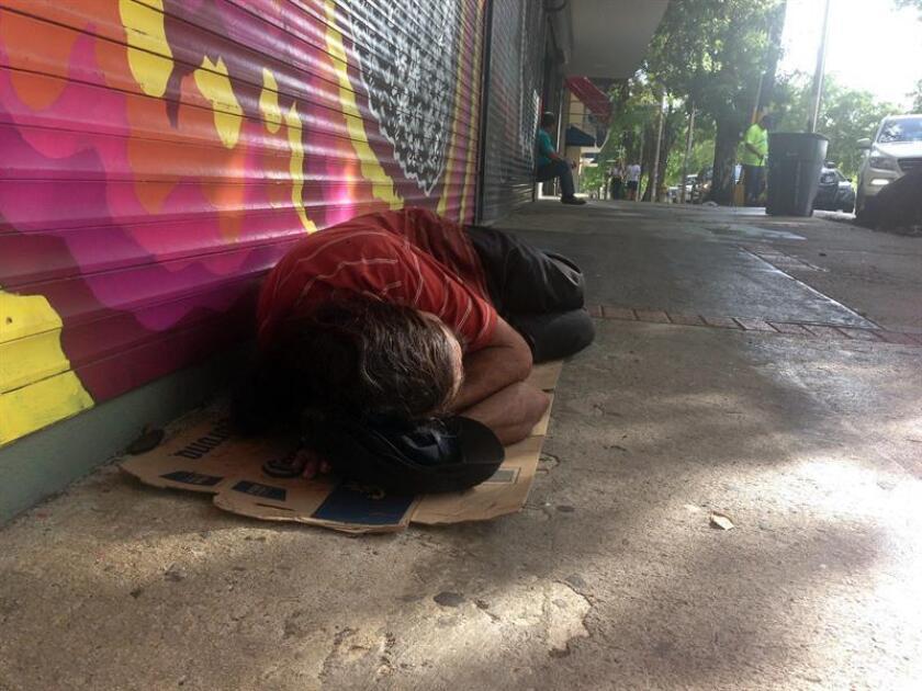 Más de 3.000 personas en San Juan carecen de hogar, un 31 por ciento de los cuáles se encuentra en dicha situación por el uso de sustancias (31 por ciento). EFE/Archivo