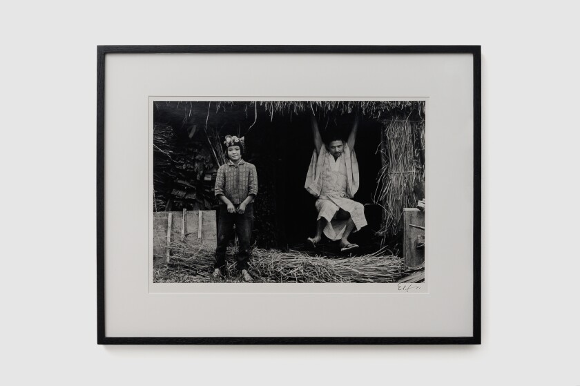 """Kamaitachi #19"" by Eikoh Hosoe, 1965/2007. Gelatin silver print, 12 inches by 17-13/16 inches."