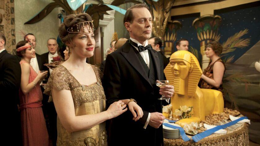 "Kelly Macdonald and Steve Buscemi in ""Boardwalk Empire."""