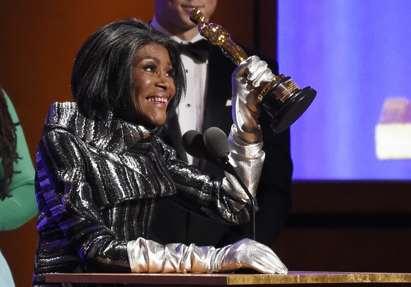 Actress Cicely Tyson accepts her honorary Oscar at the 2018 Governors Awards in Los Angeles.