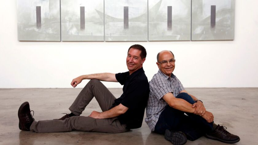 Tom Jacobson, left, wasn't the only one inspired by Europe. His partner, painter Ramone Muñoz, was f
