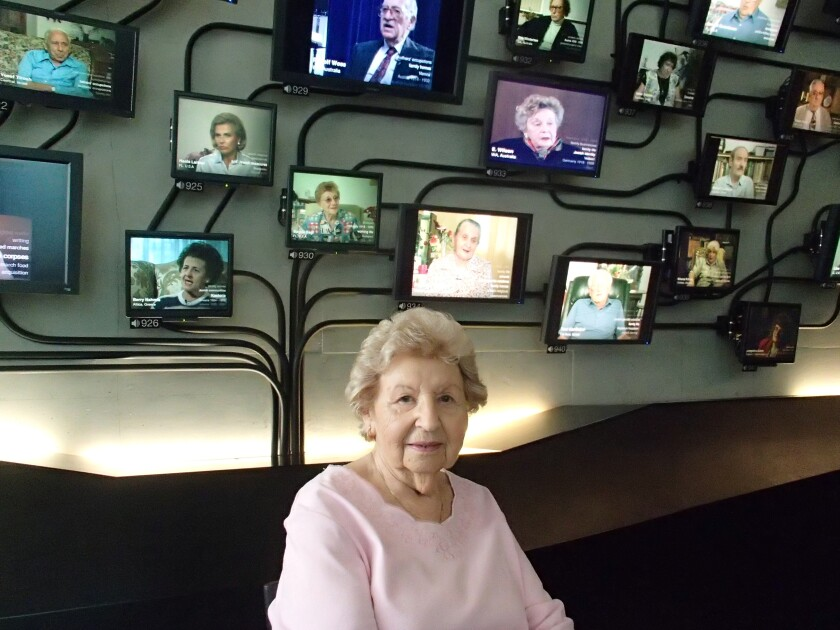 Edith Frankie at Los Angeles Museum of the Holocaust