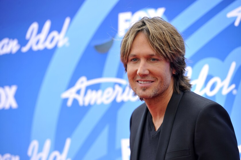 """Keith Urban, arriving at the """"American Idol"""" finale at the Nokia Theatre at L.A. Live in Los Angeles recently, will release his new album """"Fuse"""" on Sept. 10."""