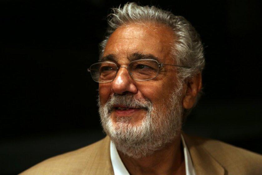 Placido Domingo at the Dorothy Chandler Pavilion in September.