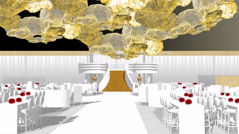 A rendering of the upcoming Governor's Ball, the big party held immediately following the 2017 Academy Awards.
