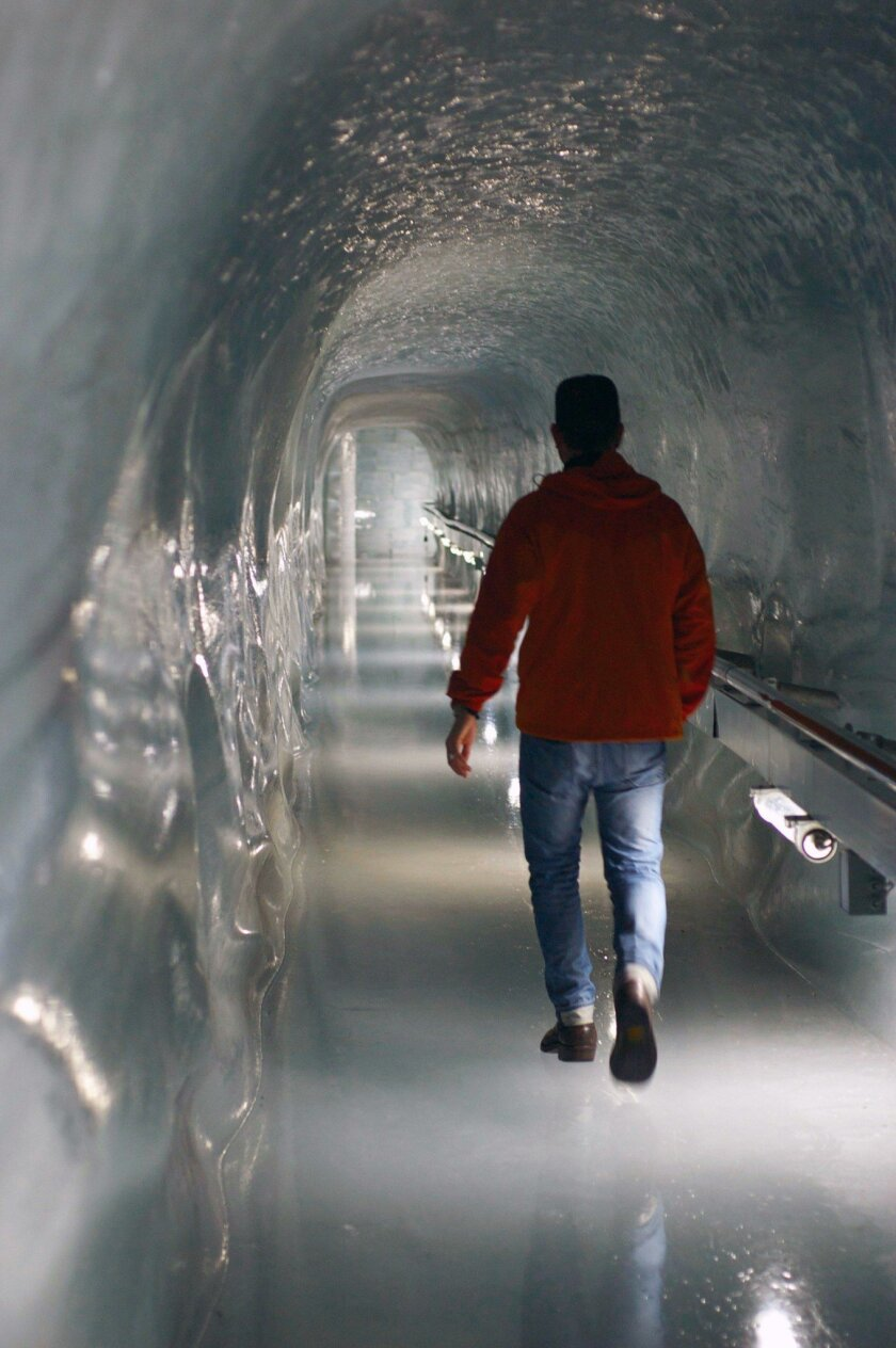 Ice palace at Jungfrau is like walking around inside a glacier.  Marlise Kast-Myers photo