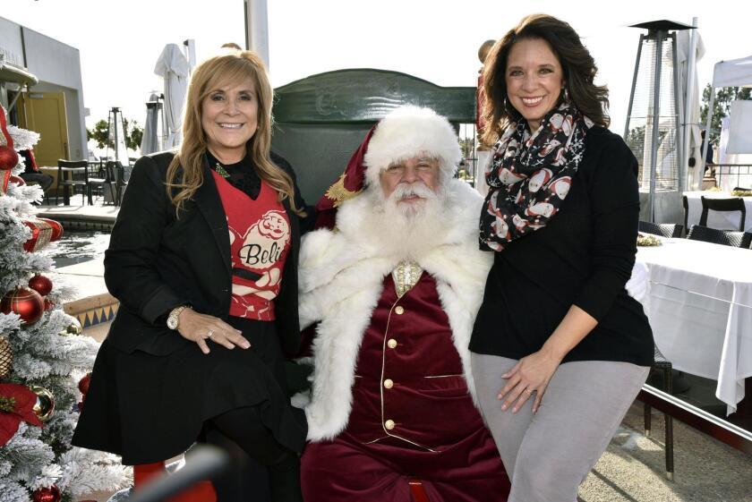 Event organizer/Major Sponsor/Donor Monica Nash, Santa Claus (santaclaussandiego.com), San Diego Center for Children Director of Philanthropy Kristi Worley (centerforchildren.org)