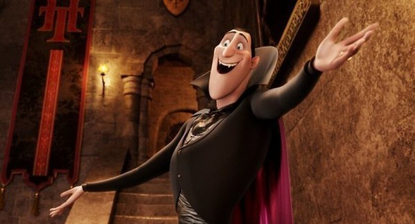 "A scene from ""Hotel Transylvania,"" which was the No. 1 film at the box office this weekend."