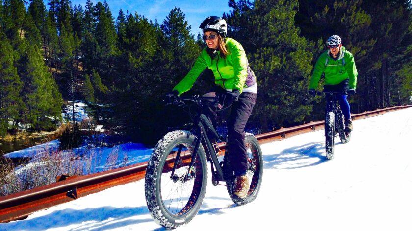 Snowbiking in Tahoe