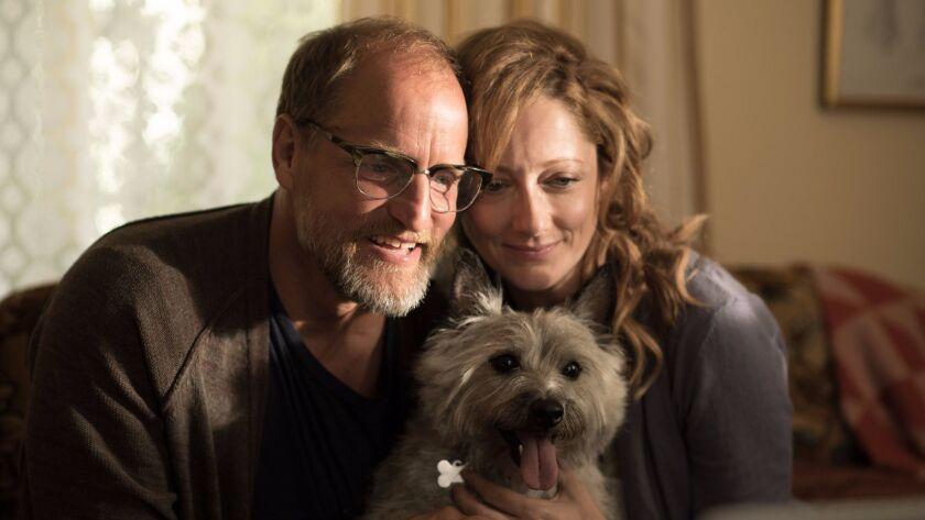 "Woody Harrelson as ""Wilson"" and Judy Greer as ""Shelly"" in the film ""Wilson."" Credit: Wilson Webb /"