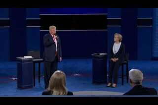 Trump suffering the sniffles again during the debate