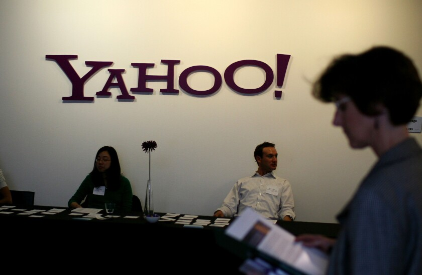 """Yahoo blocked certain Yahoo Mail users from accessing their accounts as part of a """"test."""""""