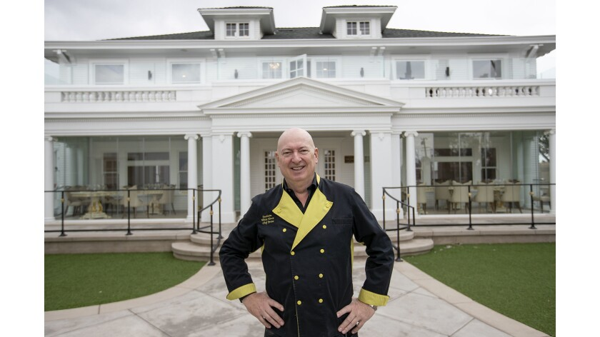 Sir Bruno Serato shows off the newly renovated Anaheim White House restaurant on Wednesday, May 2.