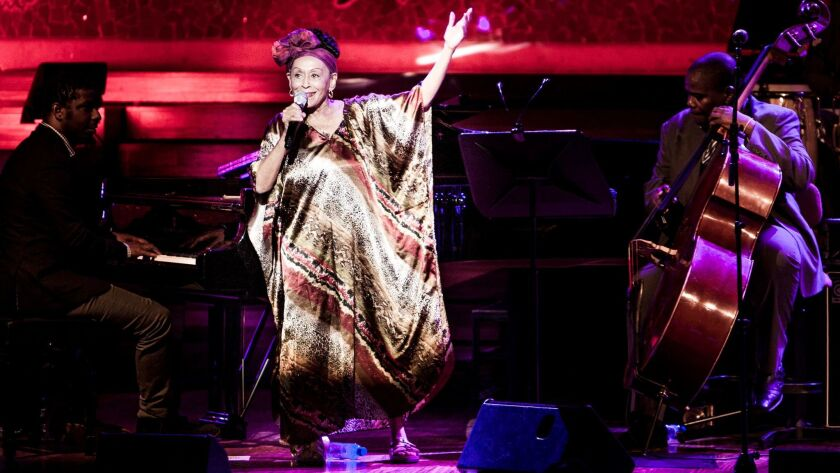 Cuban vocal great Omara Portuondo performs Friday at the Balboa Theatre with jazz greats Regina Carter and Anat Cohen.