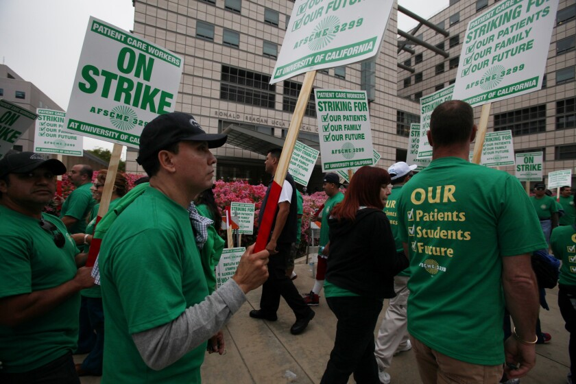 Unionized workers walked out of UC facilities in May and are now threatening another strike.